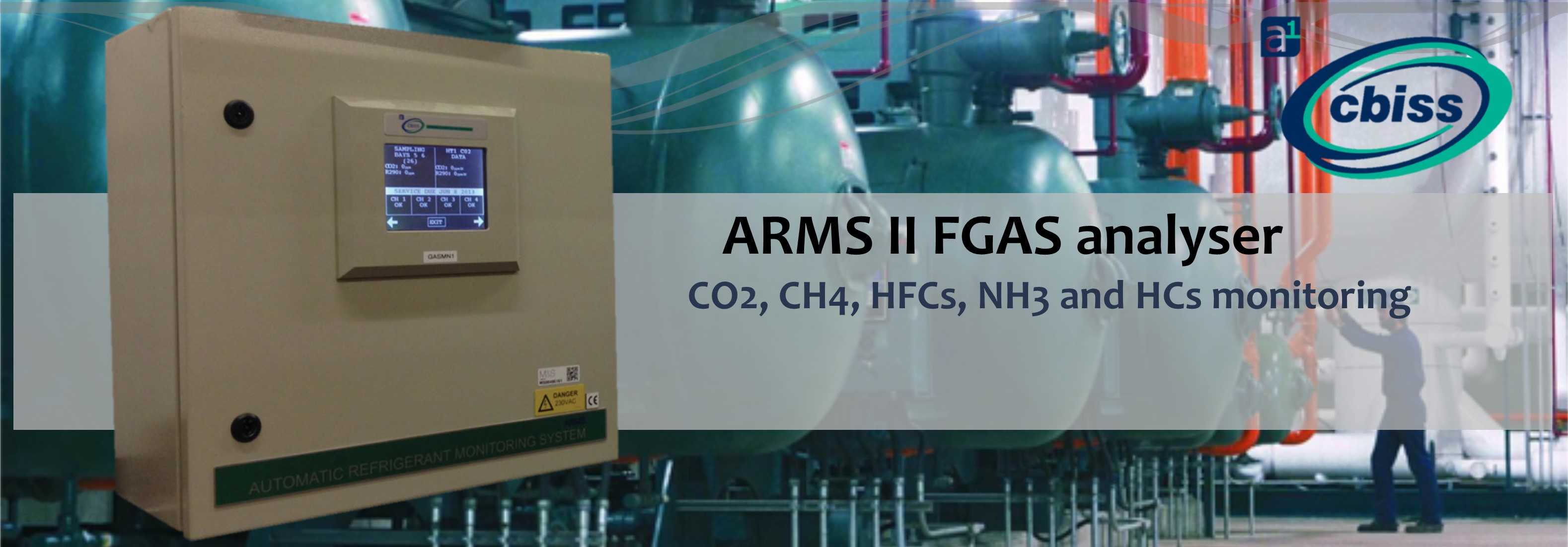 ARMS II automatic refrigerant monitoring system